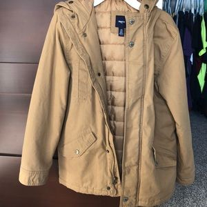 Hooded canvas Gap coat